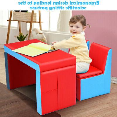 Multi-functional Kids Chair Storage Box Furniture