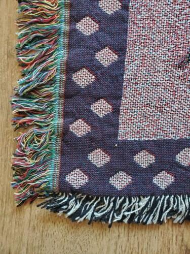 NEW Tapestry Woven by Pure Made USA Sofa Couch Throw
