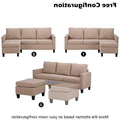 New Sectional Sofa Couch Small US
