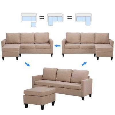 New Sectional Couch W/Reversible Chaise Small Space
