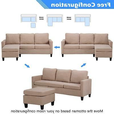New Sectional Sofa Couch Small