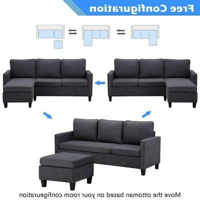 New Sectional Sofa Couch Home w/