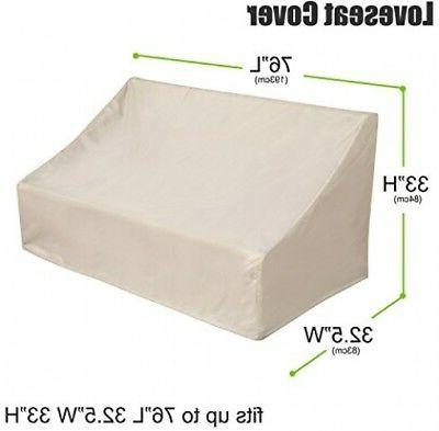 Deconovo Outdoor Loveseat Couch Cover For