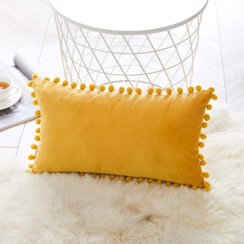 PILLOW Poms Case for Couch By FINEL