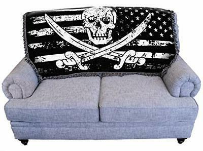 Pure Weavers American Blanket Throw for Back Couch