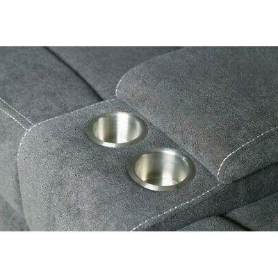 Reclining Motion Sectional theatre Sofa Couch Cup