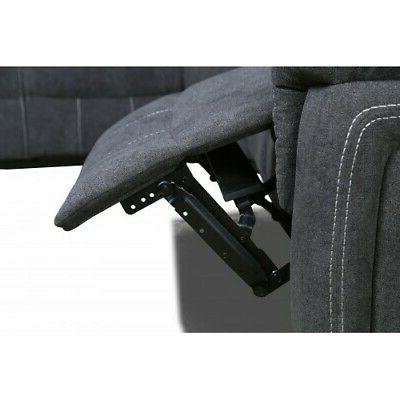 Reclining Motion Sectional theatre Sofa Couch Cup holder