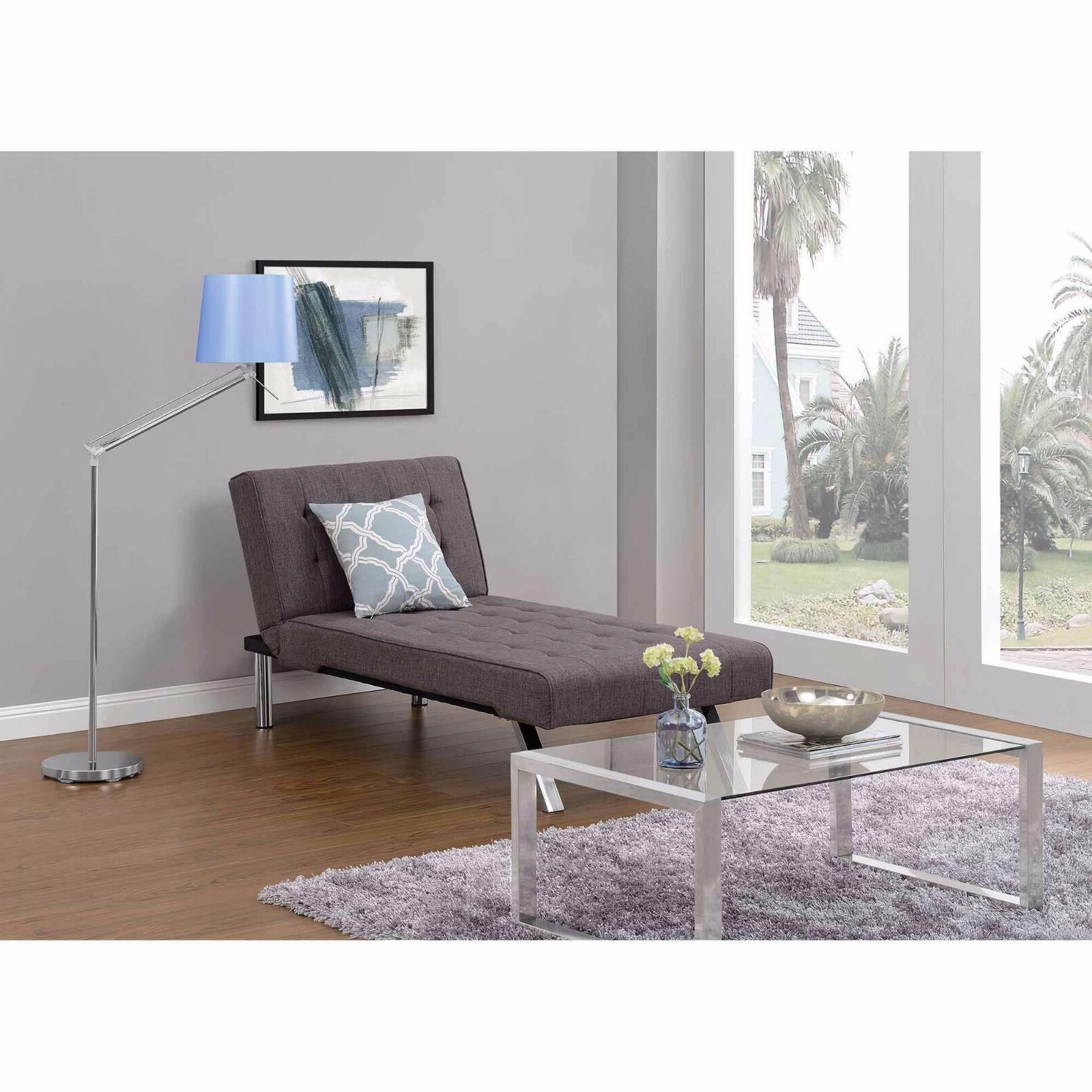 Sectional Grey Sofa Couch Futon & Chaise Set Modern