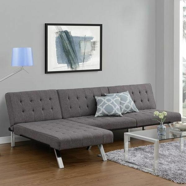 sectional grey sofa couch futon and chaise