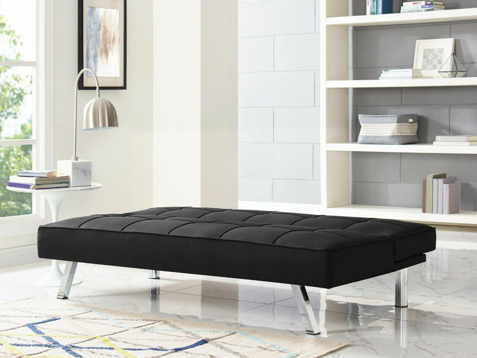 Futon Sofa Bed Lounger Couch Convertible Mattress Single Sle