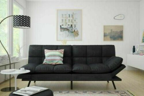 SLEEPER SOFA BED Suede Convertible Couch Living Loveseat