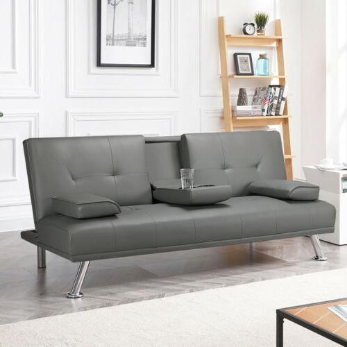 Sleeper Leather Couch Adjustable