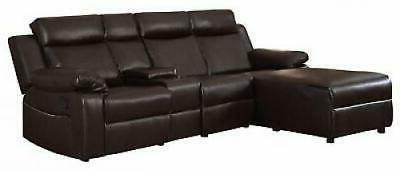 Small Recliner Sectional Chaise Console