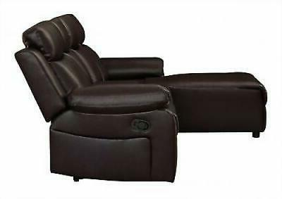 Small Space Recliner Sectional Sofa Chaise Lounge Console