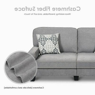 Sofa Tufted Upholstered Square Home Furniture