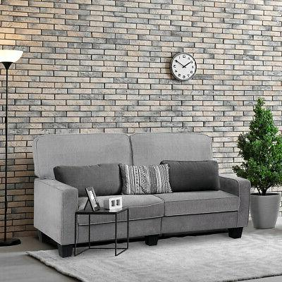 sofa couch loveseat tufted upholstered square armrest