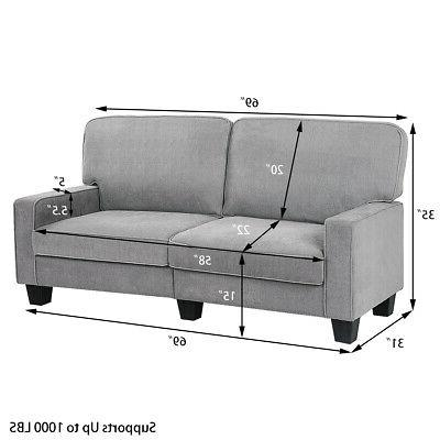 Sofa Tufted Upholstered Home