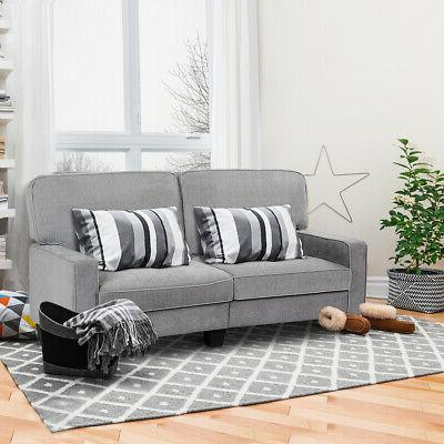 Sofa Loveseat Tufted Upholstered Home Furniture Gray
