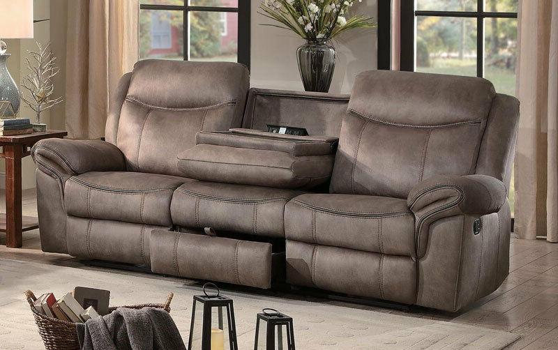SOHO Living Couch Furniture BROWN Fabric Sofa Loveseat