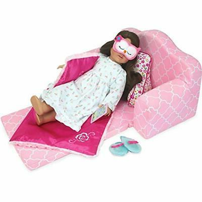 Sophia&39s Categories 2-in-1 Pink Doll Furniture Out Sofa