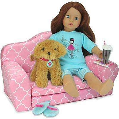 Sophia&39s Categories 2-in-1 Pink Doll Pull Sofa Couch