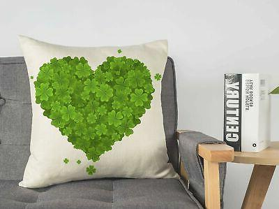 4TH Emotion St Day Pillow Cover 18x18 Inch Sofa Saint