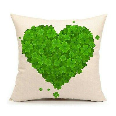st patricks day pillow cover 18x18 inch