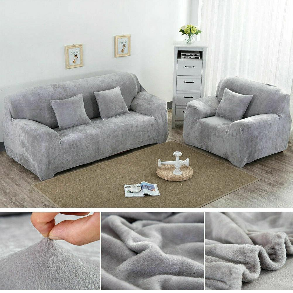 Stretch Thick Sofa Covers 1 2 4 Couch Chair Slipcover Protector