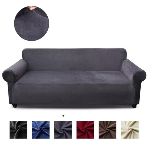 stretch sofa cover velvet couch cover fitted