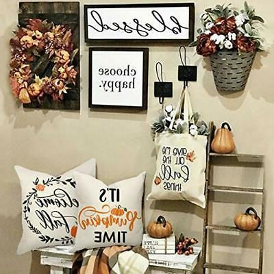 Thanksgiving 4TH Emotion pillow cover Pumpkin Couch18x18