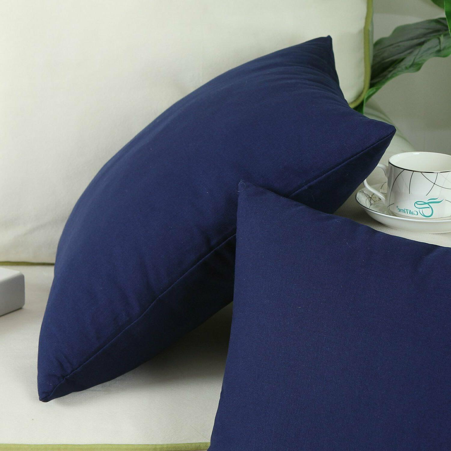 CaliTime Throw Cases Couch Bed, Navy Blue