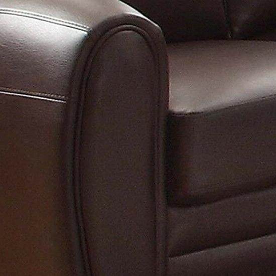 Upholstered Brown Bonded Leather