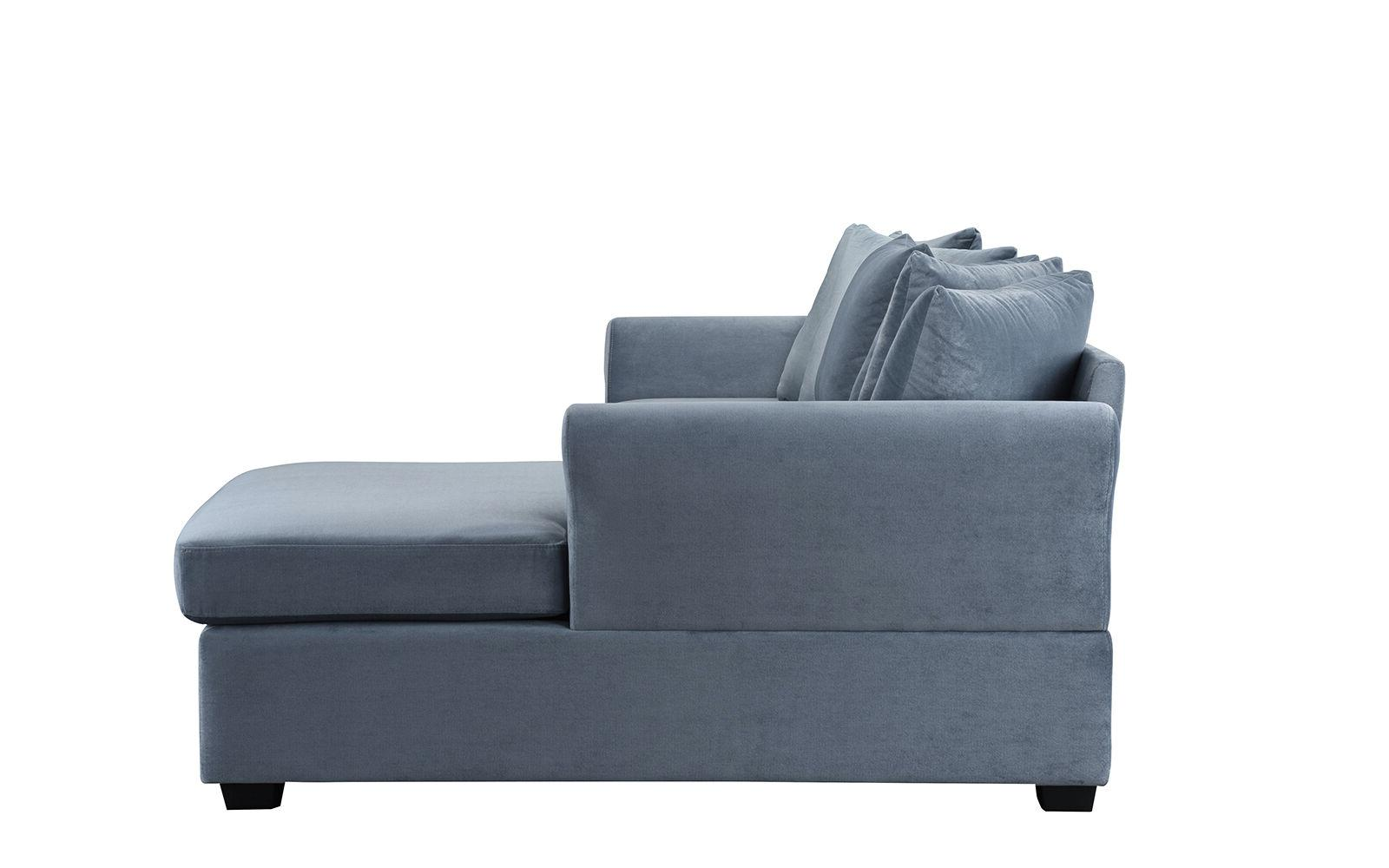 Velvet Sofa Classic Couch Chaise