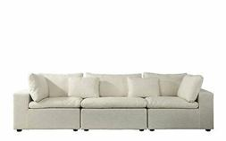 Large Couch Contemporary Lounge Sofa Living Room Linen Fabri