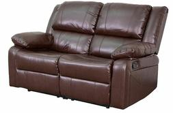 Leather Recliner Arm Chair Brown 2 Seater Double Lazy Boy St