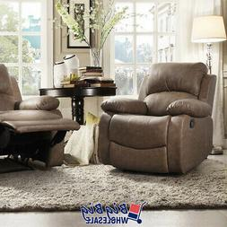 Leather Recliner Chair Single Couch Reclining Sofa Theater L