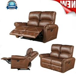 Living Room 2-Seats Sofa Reclining Mechanism Couch Loveseat
