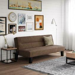 Low Set Sofa Sleeper Futon Couch Sofa Bed with Microfiber Co