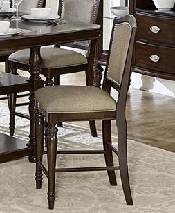 Marston Upholstered Counter Height Chair in Espresso