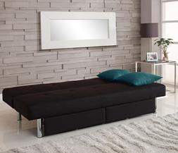 Modern Futon Bed Storage Sofa Couch Dorm Living Bedroom Mult