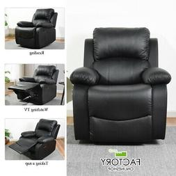 Leather Recliner Chair Single Couch Lounge Theater Sofa Home