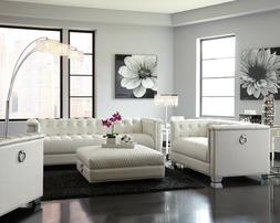 Modern Living Room 3-Piece Faux Leather Sofa Set Couch Loves