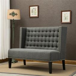 Modern Settee Banquette Bench Loveseat Sofa Couch Chair with