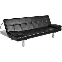 modern sleeper leather sofa bed convertible lounge