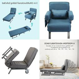 New Convertible Sofa Bed Folding Arm Chair Sleeper Leisure R