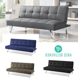 NEW Modern Futon Sofa Couch Bed Sleeper Convertible Lounge L