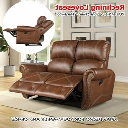 New PU Leather 2 Seats Sofa Loveseat Couch Recliner Living R