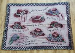 new red hat tapestry woven by made
