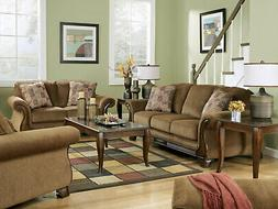 NEW Traditional Living Room Furniture Brown Fabric Sofa Couc