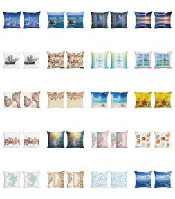 Ambesonne Ocean View Cushion Cover Set of 2 for Couch and Be